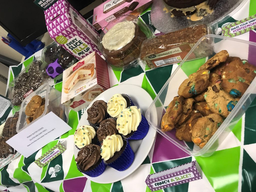 Cakes at Macmillan Cancer Coffee Morning