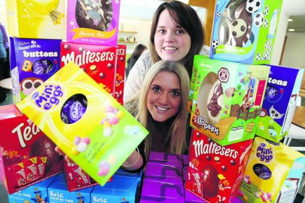 Easter Eggs Donated Local Charities